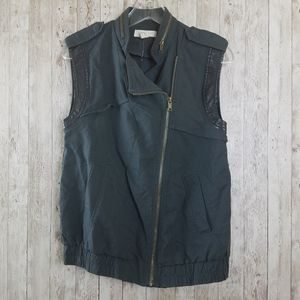 Forever 21 Utility Gray and  Black Vest Jacket
